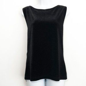 Josephine Chaus Sleeveless Velvet Top Women's L